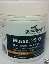 Good Health New Zealand Green Lipped Mussel 2500mg 300 Capsules DRP