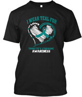 2015 Tourettes Syndrome Awareness - I Wear Teal For Hanes Tagless Tee T-Shirt