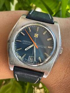 CERTINA WATCH 5801-280 ARGONAUT 280 AUTOMATIC BLUE DIAL MENS 37mm SWISS.SERVICED