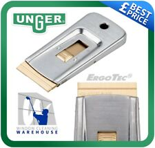 Unger ErgoTec Safety Scraper for Window Cleaning 4cm - Removes Glue/Dirt/Residue
