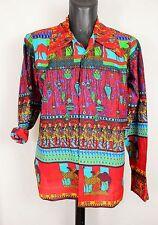 Mens Vtg 70s Style Disco Loud Boho Prince Crazy Tribal Festival Retro Shirt XL