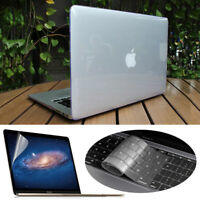 """Clear Hard Case+Keyboard Cover+LCD Film For MacBook Air 11 Pro 13/15 Retina 12"""""""