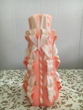 Original Sculpted Peach and White Medium Candle