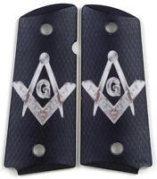Custom Compact Officer 1911 Grips Ambidextrous Mason
