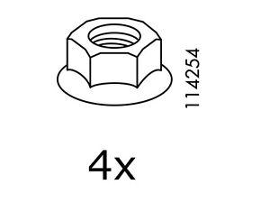 5 IKEA 114254 NUTS FITS MALM BED FRAME Ektorp NORSBORG KLIPPAN karlstad