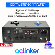 KAD-2BT Digital Stereo Amplifier Bluetooth USB SD Card FM Class D 55W Per  Side