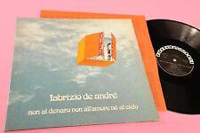 DE ANDRE LP NON AL DENARO .. 1°ST ORIGINALE 1971 EX GATEFOLD COVER E INNER TESTI