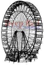 Deep Red Stamps Ferris Wheel Rubber Cling Stamp