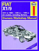 Fiat X1/9 X19 1974 - 1989 Haynes Manual 0273 NEW