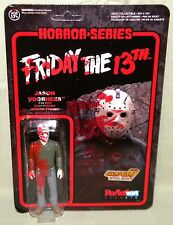 "BLOODY JASON FRIDAY THE 13TH ReAction Super 7 Retro 3.75"" Figure Funko NYCC Exc."