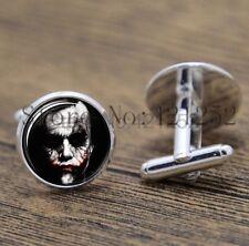 Cufflinks Glass Silver The Joker New & Sealed