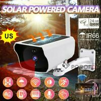 Wireless 1080P HD IP Outdoor Solar Powered Security Camera WiFi Night Vision Cam