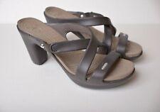 Crocs Cyprus IV 14558 Women's US 10M Heels Sandals Shoes Espresso Mushroom Brown