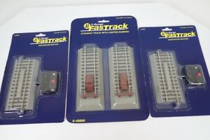 Lot Of 2 American Flyer S 6-49895 Uncoupling Fast Tracks & 6-49866 Track Bumpers