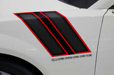 Chevy Camaro Hash Marks Hood Race Stripes Graphics Stickers Decals 10-15 RED BLK