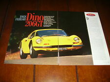 1968 FERRARI DINO 206GT  ***ORIGINAL 1998 ARTICLE***