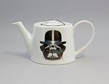 9952267 Porzellan Tee-Kanne Hund mit Hut Jameson&Tailor  1,2l H12cm