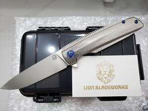 Custom Made Specter M390 Blade Titanium Handle Tactical Folding Pocket Knife NIB