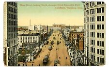 Winnipeg Manitoba -MAIN STREET NORTH TO ROYAL ALEXANDRA HOTEL- Postcard