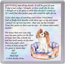 "Cavalier King Charles Spaniel Dog Coaster ""MY BEST FRIEND Poem ..."" by Starprint"