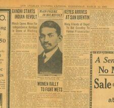 Gandhi Starts Indian Revolt Start Salt March Jalalpur Self Rule March 12 1930