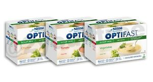 OPTIFAST® 800   CHICKEN, VEGETABLE, or TOMATO SOUP MIX   6 BOXES   AUTHENTIC
