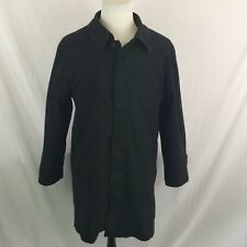 Stafford Trench Coat Overcoat Long Jacket Mens Large Black Winter Dry Cleaned