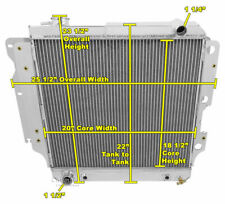 1987-2006 Jeep Wrangler Radiator, Polished Aluminum 3 Row Champion Radiator