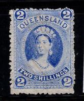 Queensland 1872 Gestempelt 80% 2 Sh, Königin Victoria