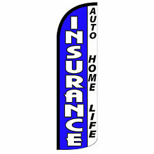 Insurance B/W Extra Wide Windless Swooper Flag