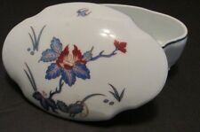 Vtg Ch Field Haviland Chantilly Footed Trinket Box Limoges Blue Floral 6.75x4.5""