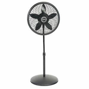 """Lasko 18"""" Elegance & Performance Pedestal 3-Speed Fan, Model #1827, Black"""