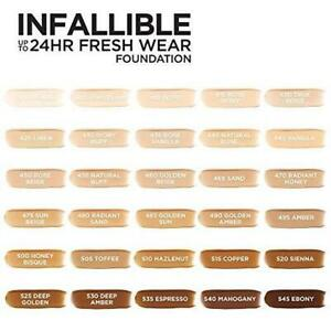 Loreal Infallible 24hr Fresh Wear Foundation You Choose Shades New Not Sealed