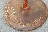 Original PURE OIL COMPANY Cast Iron Lollipop SIGN Base gas Oil Porcelain signs