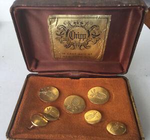 Vintage Gold Tone Blazer Buttons Chipp NYC