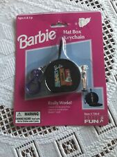 Barbie Hat Box Keychain *New* Perfect! Vintage 1999 Unopened!