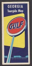 1950's Road Map of Georgia- Gulf Oil & Gas -Plus 10 Other Southern States