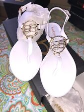 bebe White Rubber Logo sandals Size 7