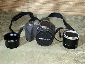 Olympus SP-55OUZ Digital Camera 18x Optical Zoom 2-Bower Adapter Tubes & Card