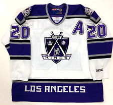 "LUC ROBITAILLE LOS ANGELES KINGS ORIGINAL 1999-2002 CCM WHITE JERSEY W/ ""A"" XXL"