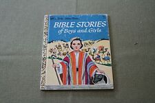 BIBLE STORIES OF BOYS AND GIRLS Little Golden Book 20th Printing 1980
