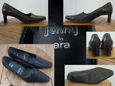 Jenny by ara Schuhe Pumps Damen 5,5cm Blockabsatz Leder Schwarz 4½  37 1A