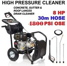BLACK JET 4800 PSI 8 HP HIGH PRESSURE CLEANER WASHER PETROL WATER CLEANER TURBO