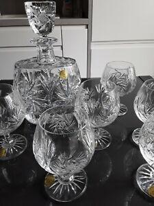 Coffret 6 verres à vin + carafe Cristal des Ducs Lorraine neuf