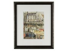 c1990 The Barbican Plymouth Watercolour by Louise Courtnell