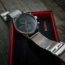 MVMT Watches Chrono STERLING Silver Men's luxury Watch New In Box *Authentic