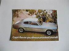 FORD CAPRI MK1 POSTCARD OF AN ORIGINAL ADVERT FROM 1968