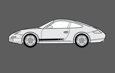 Porsche 911 997 Side stripes Decal Sticker Set. (Carrera, Turbo, Targa, etc.)