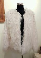 NEW The Vintage Boutique Faux Fur Shaggy Jacket UK size 12 / M