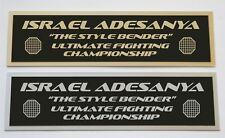Israel Adesanya UFC nameplate for signed mma gloves photo or case
